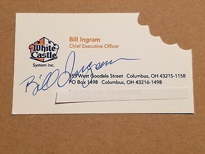 bill ingram white castle chief executive officer autographed