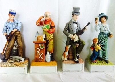 "Hand Crafted Porcelain "" Stephen Foster"" Decanters"