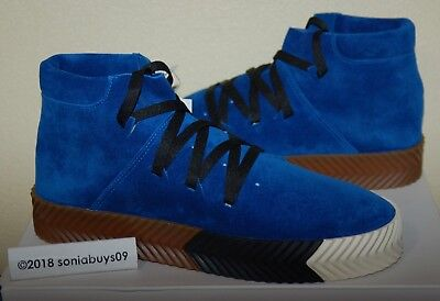 huge discount c68cd 33514 Adidas X Mens Alexander Wang AW Skate Mid Shoes, AC6849, Blue, Sizes