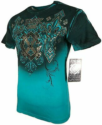 XTREME COUTURE by AFFLICTION Men T-Shirt MOMENTUM SHIFT Biker MMA GYM S-4X $40