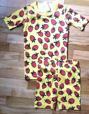 Nwt Hanna Andersson Organic Yellow Strawberry Short Johns 100 4 110 5 140 10