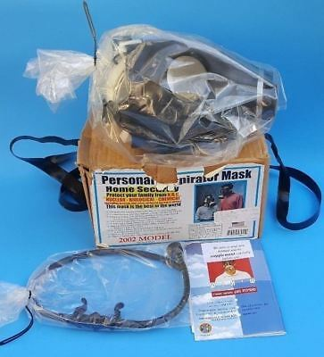 NEW Israeli Rubber Gas Respirator Mask NBC 4A1 Civilian Model w/ Filter & Hose