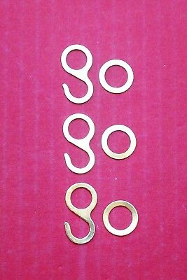 Regula  light duty hooks and rings for cuckoo clock chains,  variations.