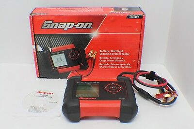 Snap-on Basic Battery Tester EECS150 w/Clamps - MINT