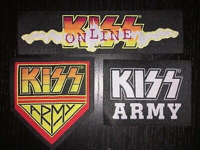 KISS - 3 Piece Embroidered Iron-On PATCH Set - KISS ARMY
