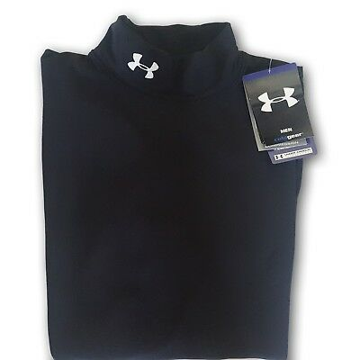 Under Armour Cold Gear Long Sleeve Mock Neck Compression Shirt Mens MEDIUM NEW