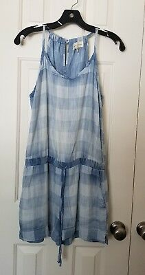 d5627536fbb NEW ANTHROPOLOGIE FLANNEL Romper by Cloth   Stone Size XS   M ...