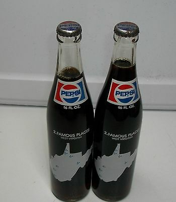 2-1970's West Virginia Pepsi Cola Bottles No.2 Famous Places.