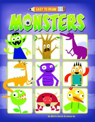 Pwb-Easy To Draw Monsters  (UK IMPORT)  BOOK NEW
