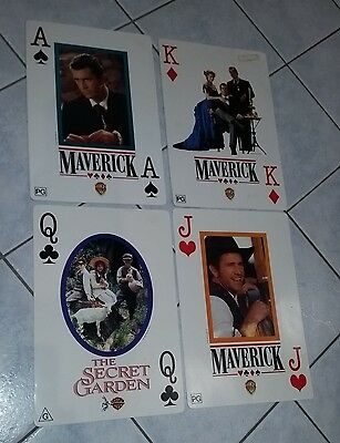 LARGE Movies promotional playing cards Mel Gibson Maverick & The Secret Garden