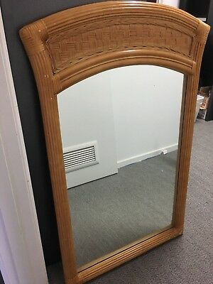 Authentic Rattan and Cane Mirror