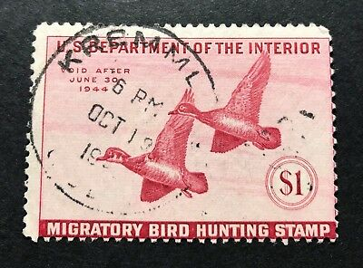 WTDstamps - #RW10 1943 - US Federal Duck Stamp - Cancel - **KREMMLING, CO**