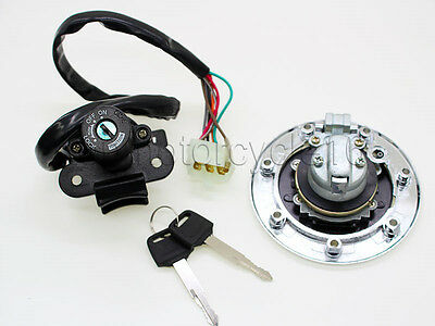 Ignition Switch Lock Gas Cap Cover Set for Kawasaki ZX900 NINJA ZX-9R 1994-1999