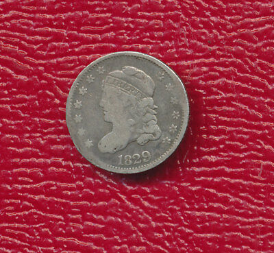 1829 Capped Bust Silver Half Dime **nicely Toned Type Coin** Free Shipping!