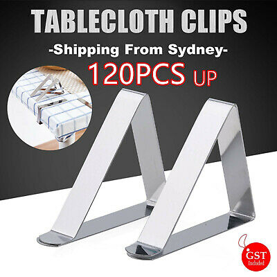 Stainless Steel Tablecloth Clips Desk Table Cloth Cover Clamps Holder Party Wed