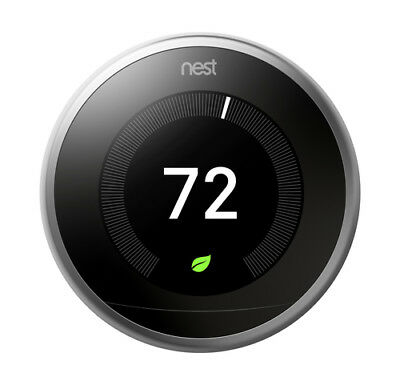 Nest Learning Thermostat 3rd Generation - Black (T3016US)
