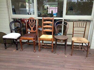 Vintage Antique Chairs (5 In This Lot )