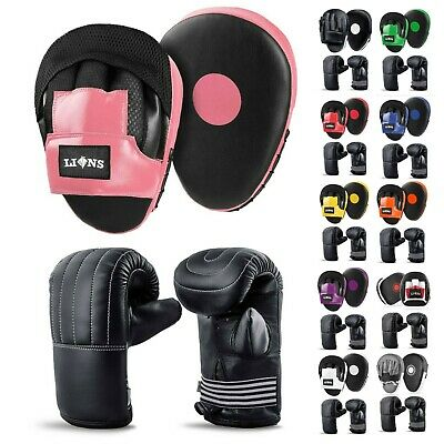 Focus Pads and Boxing Mitts Set Hook & Jabs Punch Bag MMA Training Junior Senior