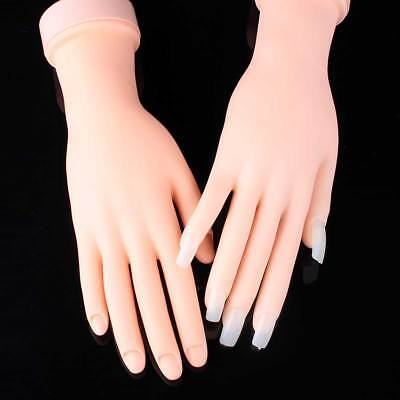 Soft Rubber Practice Nail Art Trainer Movable Hand Model Acrylic Gel False Tip