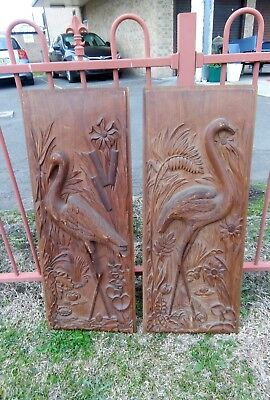 Mid Century Wall Art Vintage Carved Wood.
