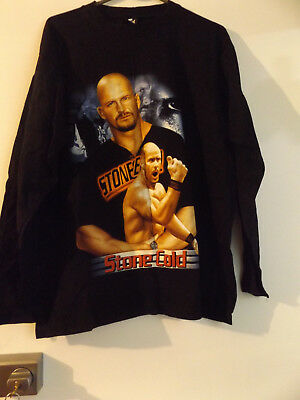 Closing Down Sale==Large Stone Cold T Shirt With Long Sleeves.