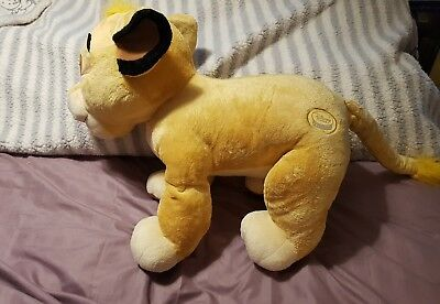 "Disney Store Exclusive Simba 24"" large giant soft toy plush lion King stamped"