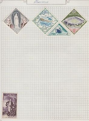 MONACO COLLECTION Washington, Timbre Tax, Football, etc  as per scan USED #