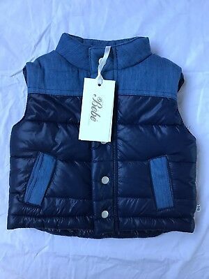 BEBE RIVER VEST, BABY BOY BLUE. NWT! RRP 59.95 Size 6mth Sold Out!