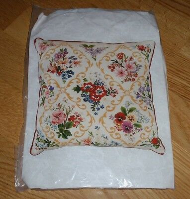 "Victorian Garden Trellis Embroidery Cushion Kit By Nora Barton E166 - 12"" X 12"""