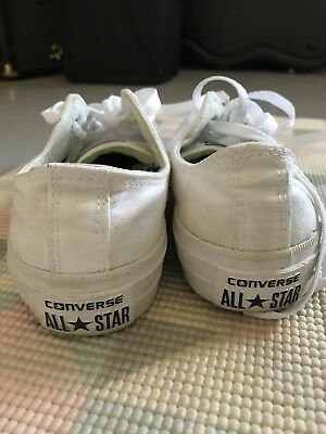 White Converse Low Tops With Lunarlon