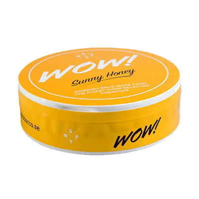 Snus WoW! Sunny Honey White Portion! 1 can