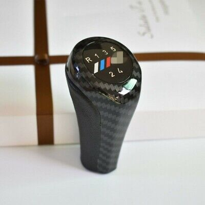 Carbon Fiber 5 Speed Gear Shift Knob Handle For BMW 3 5 7 M E36 E46 E34 E38 E61