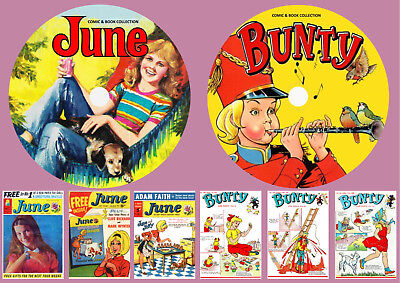 June + Bunty Comics & Annuals On Two DVD Rom's
