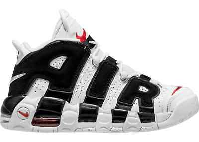 Nike Air More Uptempo Wmns Bianco Nero White Black University Shoes - UPTEMPO