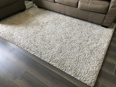 Ikea Alhede Rug High Pile Off White 5 3 X 7