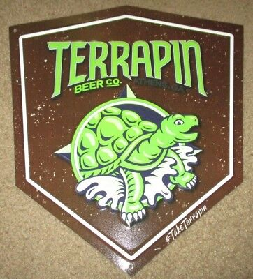 TERRAPIN BEER CO Wake-n-Bake Logo METAL TACKER SIGN craft beer brewery brewing