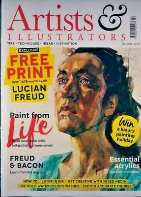 Artists & Illustrators Magazine April 2018 Sealed With £5 Voucher From Great Art