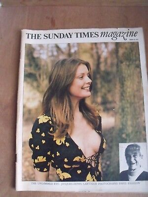 Sunday Times Mag 1973 Jaque-Henri Lartigue Paris Fashion Air Stewadess Uniforms