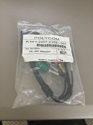 Polycom 23521-001 HDX Hdci Port Breakout to 5-BNCF & DB9F Cable 2457-23521-001
