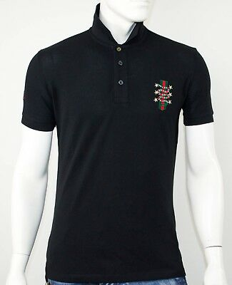 Polo Gucci Black With Snake Slim Fit - Sale