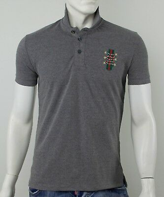 Polo Gucci Slim Fit Grey With Snake - Sale