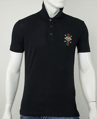 Polo Gucci Slim Fit Black With Tiger - Sale