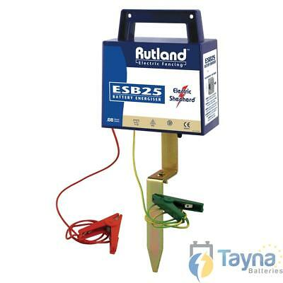 Rutland ESB25 Electric Fence Batterie Energiser