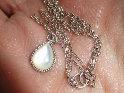 Pretty Vintage Sterling silver  Moonstone necklace