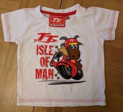 Baby 6-12 Month Isle Of Man Tt  Motorcycle Races Souvenir T Shirt Tshirt Top