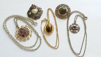 Vintage Scottish Jewellery Lot Including Miracle