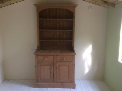 antique pine dresser with draws and cupboard