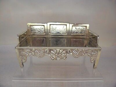 CHINESE Export Solid SILVER c1900 MINIATURE Salon Sofa