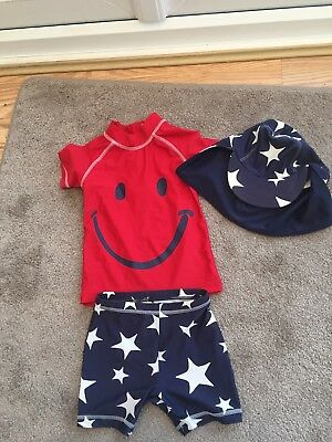 Next Boys Swim Suit 1.5-2 Years with matching hat