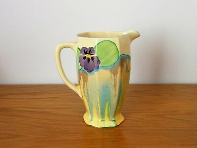 "CLARICE CLIFF 6"" ATHENS shape JUG in DELICIA PANSIES."